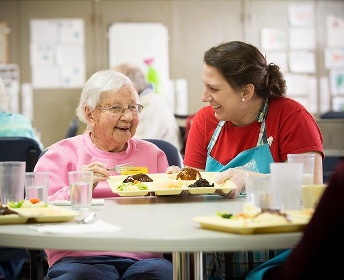 Heartland Senior Services provides lunch to Day Care attendees